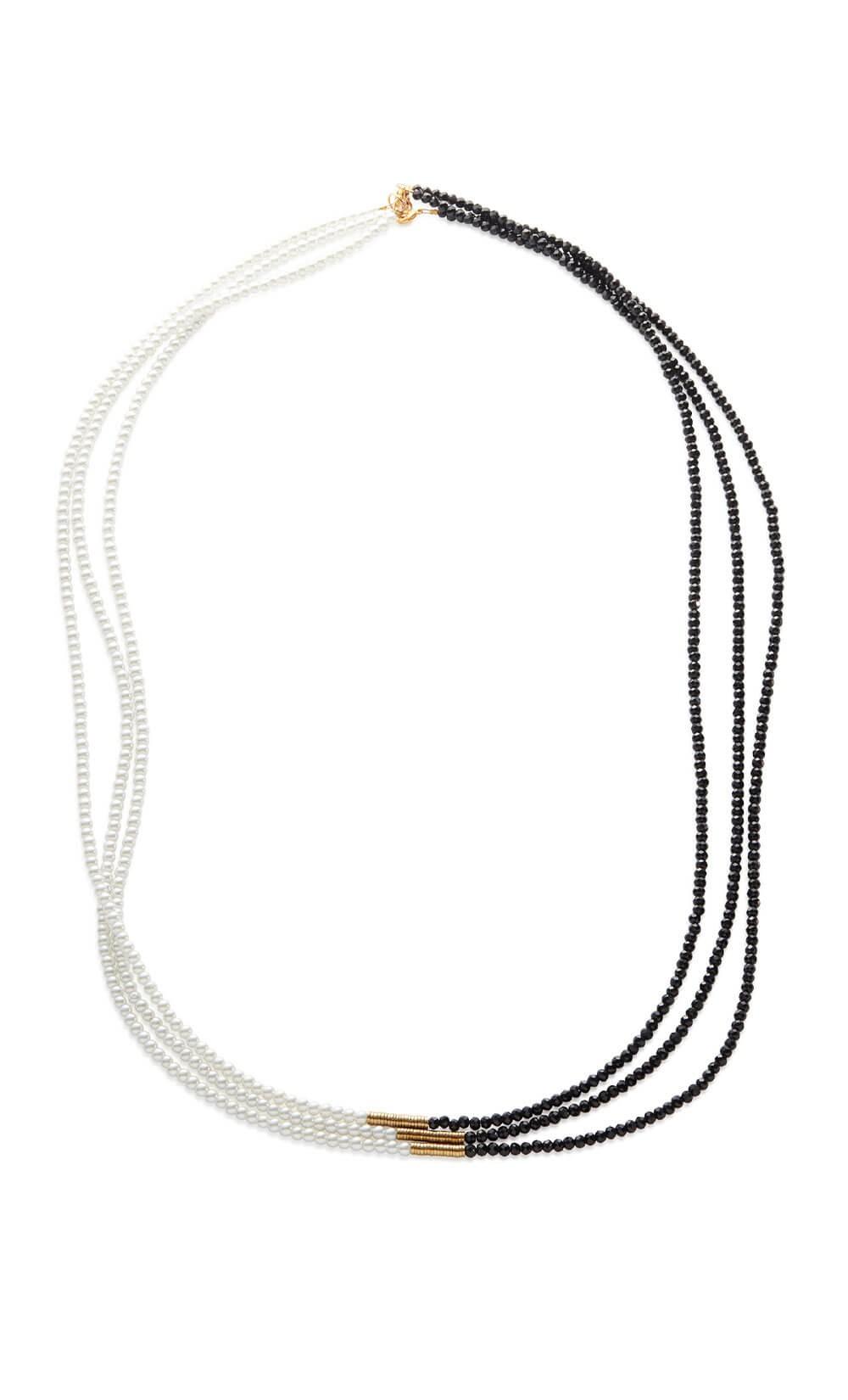 Black & Pearl Necklace