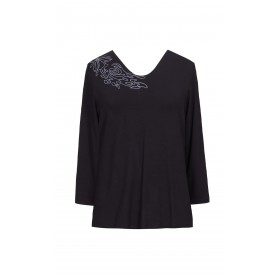 Soon Floral Black T-Shirt