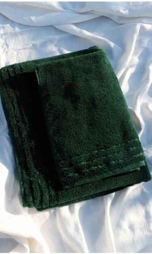 Personal Forest green Towel set