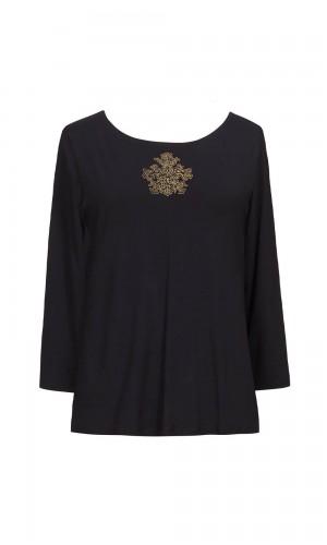 Folly Medallion Black T-Shirt