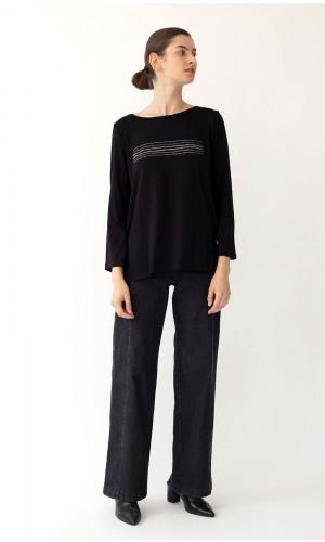 Kav Bicolor Black T-Shirt