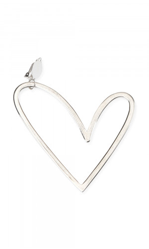 Single Heart Earring