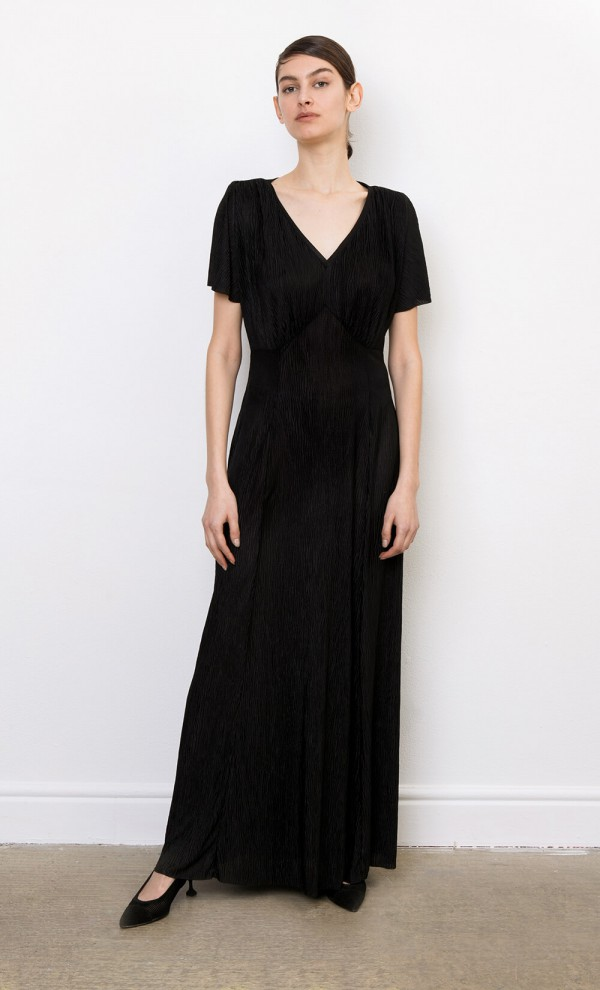 Claudine Plissé Dress