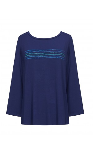 Kav Bicolor Navy T-Shirt