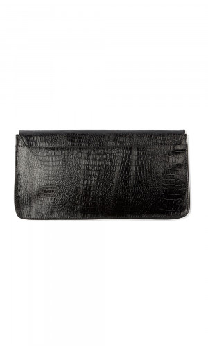 Textured Leather Clutch